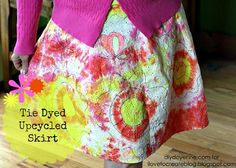 iLoveToCreate Blog: Tie Dye una falda upcycled