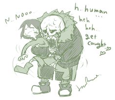 Underfell Sans and Frisk   Underfell
