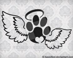 Pet Print with Wings - SVG cut file printable christian htv art cutfile for cricut silhouette clipar Tattoos For Dog Lovers, Dog Tattoos, Cat Tattoo, Body Art Tattoos, Paw Print Art, Dog Memorial Tattoos, Dibujos Tattoo, Dog Crafts, Cat Paws