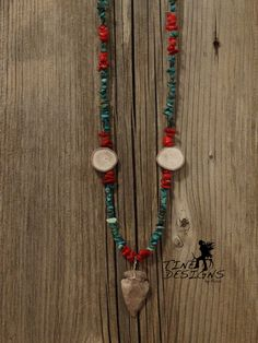 A personal favorite from my Etsy shop https://www.etsy.com/listing/231774680/turquoise-and-coral-antler-and-arrowhead