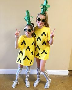 DIY Pineapple costume- so easy & cute