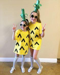halloween costumes kids DIY Pineapple costume- so easy amp; Fruit Costumes, Easy Diy Costumes, Family Costumes, Cute Costumes, Halloween Costumes For Girls, Girl Costumes, Diy Fruit Costume, Zombie Costumes, Halloween Couples