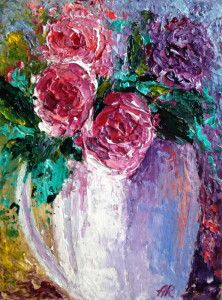 View Fresh cut flowers by Alena Rumak. Browse more art for sale at great prices. New art added daily. Buy original art direct from international artists. Shop now Art Paintings For Sale, Modern Art Paintings, Art For Sale, Landscape Paintings, Impressionist Landscape, Impressionist Paintings, Traditional Artwork, Floral Artwork, Botanical Art