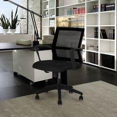 Amazon.de: LANGRIA Schreibtischstuhl Drehstuhl Mid-Back Gitter Chefsessel Synchro-Tilt Bürostuhl
