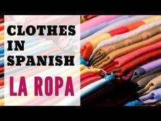 La ropa en español -- Clothes in Spanish. Este video presenta algunas prendas de vestir comunes en español y cómo usar el vocabulario de la ropa para crear oraciones y preguntas sobre la ropa en español. Please activate the closed captions (cc) if you need them ;)