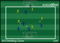 5v5, 5 on 5, 5 vs 5, soccer, dribbling, drills, game, practice