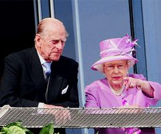 ladymollyparker:  Fresh from their three-day visit to France, the Duke of Edinburgh and Queen Elizabeth attended the Investec Derby, Epsom, Surrey, June 7, 2014.