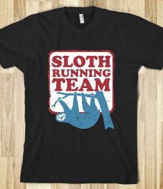 sloth running team #skrocktober