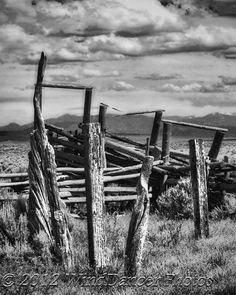 Western Art - Old Corral - Fine Art Photo - Southwest - Home or Office Decor - Taos - Cowboy Art - Rustic - Gifts for Guys, Black and White Western Theme, Western Decor, Western Art, Country Decor, Old West, Fine Art Photo, Photo Art, Tao, Old Fences