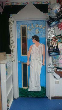 Ancient Greek classroom door display KS2