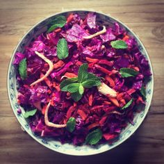 Has anyone had a chance to watch @peteevanschef new show the Paleo Way? Thought we would give his Raw Slaw a crack for lunch today! Yummo! Thanks Pete ✌️