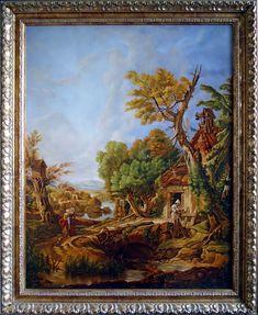 Pustelnik, 100cm x 80cm, Obraz olejny na płótnie