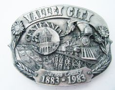 1983 Limited Edition #474 out of 1500 Valley City North Dakota Belt Buckle by parkledge on Etsy