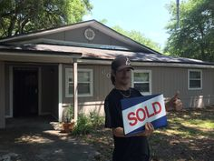 Joe in his first home!  Congrats Joe!!!