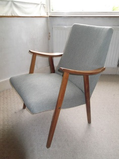 Classic Chair Wooden Arms and Legs 50's 60's Design Eames Arne Jacobson Style | eBay