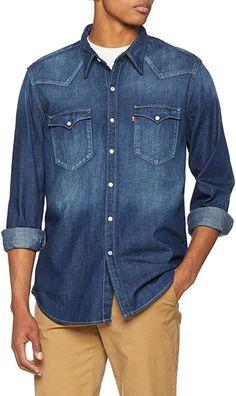 INFO: Levi's Logo- 2 Varianten !!  Bekleidung, Herren, Tops, T-Shirts & Hemden, Freizeithemden Denim Button Up, Button Up Shirts, Westerns, Tops, Dark, Medium, Fashion, Men, Young Boys