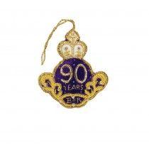 HM Queen's 90th Birthday Cream Roundel Decoration