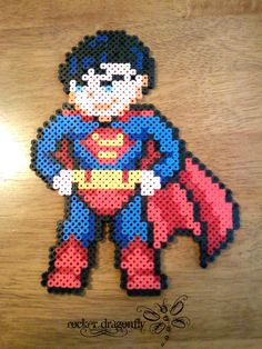 Superman perler beads by RockerDragonfly on deviantart