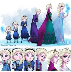 Elsa Evolution by LinceEaling.deviantart.com on @deviantART