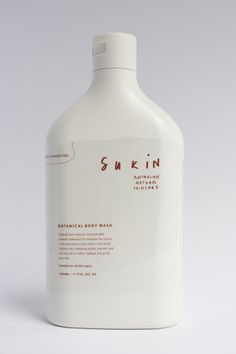 Sukin Skincare by Danielle Fritz, via Behance. Do you think this is screened or a label (look at the edges) #packaging PD