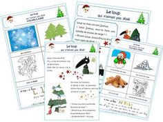 Le loup qui n'aimait pas Noël Core French, French Class, French Lessons, Primary School, Elementary Schools, School Organisation, Teaching French, Reading Comprehension, Teaching Resources