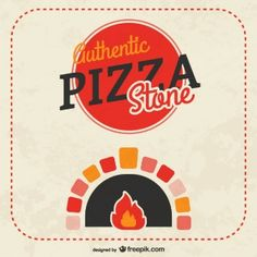 Pizza stone vector