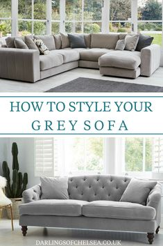 Grey sofas are still the most popular when it comes to stylish home decor choices, from monochrome interior design to minimal and contemporary home decor. Style your grey sofa easily and effectively, choose the perfect grey sofa to begin with #darlingsofchelsea #greysofa #ukgreysofa #uksofa #uksofaexpert