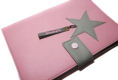carnet de santé : housse fille en simili cuir rose étoile : Puériculture par kipapee