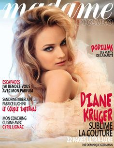 """Diane Kruger photographed by Dominque Marie Issermann for the cover of """"Madame Figaro"""" France magazine feb 2011......."""