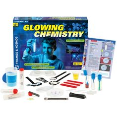Unlock Your Child's Hidden Scientist with 3 Fun New Toys. This one is Glowing Chemistry set by Thames and Kosmos Chemistry Set, Chemistry Experiments, Science Kits, Chemistry Gifts, Teaching Chemistry, Cool Chemical Reactions, Electromagnetic Spectrum, Wind Power, Fun Learning