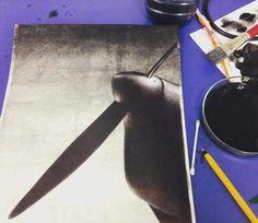 Creo que casi lo tengo. Ese momento un poquito antes del orto. Conseguiré esa sensación que tengo en mi cabeza? Sigo...#ink #drawing #draw #airplane #aircraft #art.Eduardo Alonso 11 de noviembre de 2015 · Editado
