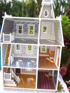 Dollhouses by Robin Carey: Key West Palm Island Estate Dollhouse
