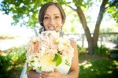 Bride and her bouquet at the Vine Hill House