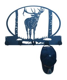 Elk Calling Metal Coat Rack and Hat Rack by MadMetalWorks on Etsy