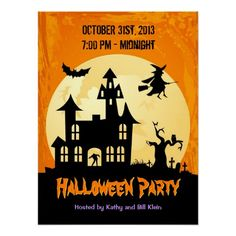 Shop Moonlight Haunted House in Graveyard - Halloween Poster created by UrHomeNeeds. Halloween Party Poster, Halloween Artwork, Halloween Cards, Halloween Gifts, Spooky Halloween, Happy Halloween, Halloween Ideas, Halloween Decorations, Halloween Costumes