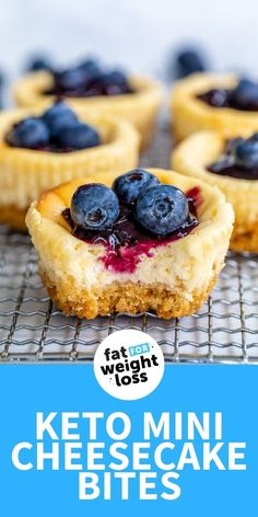 These single-serve keto cheesecake bites are the easiest way to have the taste of cheesecake, without the sugar or temptation of a whole low carb cheesecake! (these desserts can be tempting) Sugar Free Sweets, Sugar Free Recipes, Low Carb Recipes, Sweet Recipes, Paleo Recipes, Vitamix Recipes, Ketogenic Recipes, Easy Recipes, Cheesecake Bites