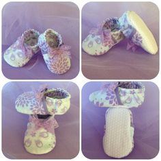 Baby Infant Bootie Shoe Girl Crib Slipper Lavender by Sunjunki, $19.00
