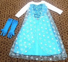 Elsa from Frozen Costume Dress with Gloves by AngoraBoutique, $90.00