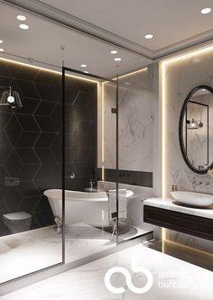 The Best 2019 Interior Design Trends - Interior Design Ideas Bathroom Layout, Modern Bathroom Design, Bathroom Interior Design, Home Interior, Small Bathroom, Master Bathroom, Master Baths, Bathroom Kids, Toilet Design