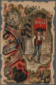 [Felicitaciones de Navidad de oficios.. Grabado — 1900-1950