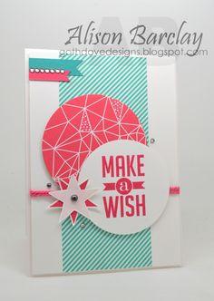 Gothdove Designs - Alison Barclay - Stampin' Up! Australia - Confetti Celebration DSP - Perfect Pennants - Mojo Monday sketch. #stampinup #stampinupaustralia #gothdovedesigns