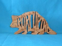 Scroll Saw Wooden Puzzles | Porcupine Wooden Scroll Saw Puzzle