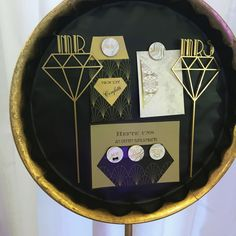 Save The Date Inspiration, Gatsby, Confetti, Plates, Tableware, Licence Plates, Dishes, Dinnerware, Griddles