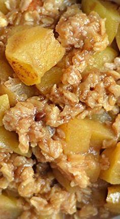 Instant Pot Apple Crisp.