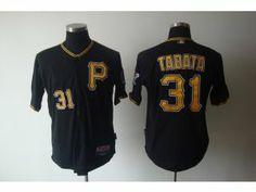 MLB Pirates #31 Jose Tabata Black Cool Base Stitched Jersey