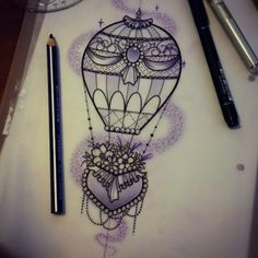 For Nikita! #tattoo #design #art #hotairballoontattoo #neotraditional #tattooworkers #hotairballoon #ladytattooers #uktattooartist #uktattoo #plymouth #ntgallery #instagood #igdaily
