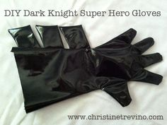 DIY Super Hero Gloves --ironic bec I need to make the jokers gloves