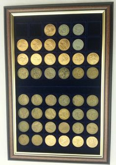 Coins / Token / Medal / Medallion / Badge / Coin Collectors Display Frame