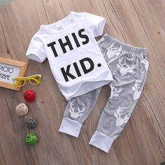 $5.03 (Buy here: https://alitems.com/g/1e8d114494ebda23ff8b16525dc3e8/?i=5&ulp=https%3A%2F%2Fwww.aliexpress.com%2Fitem%2FToddler-Kids-Baby-Boy-Clothes-Short-Sleeve-T-shirt-Deer-Pants-2PCS-Outfits-Set%2F32765799165.html ) Toddler Kids Baby Boy Clothes Short Sleeve T-shirt+Deer Pants 2PCS Outfits Set for just $5.03
