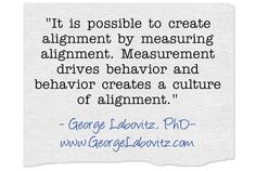 The importance of measurement for alignment.